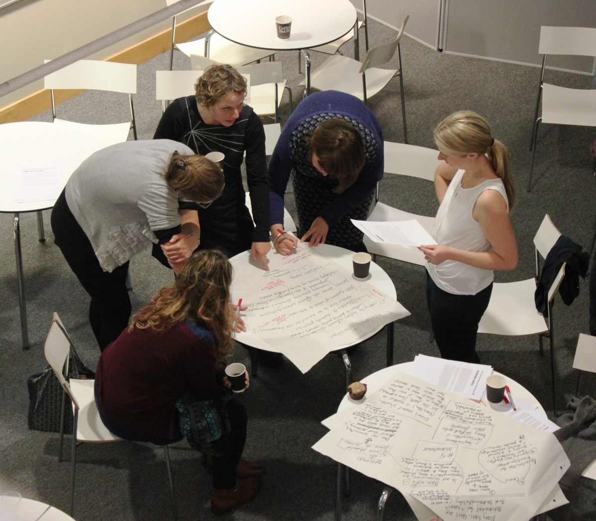 photos of participants 'nexusing' at the Sheffield workshop