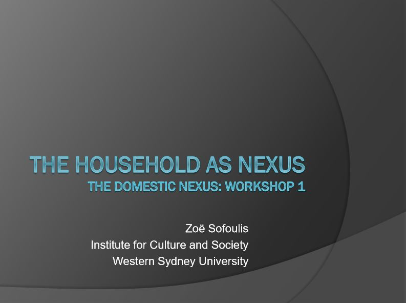 Slides from ZoeSofoulis