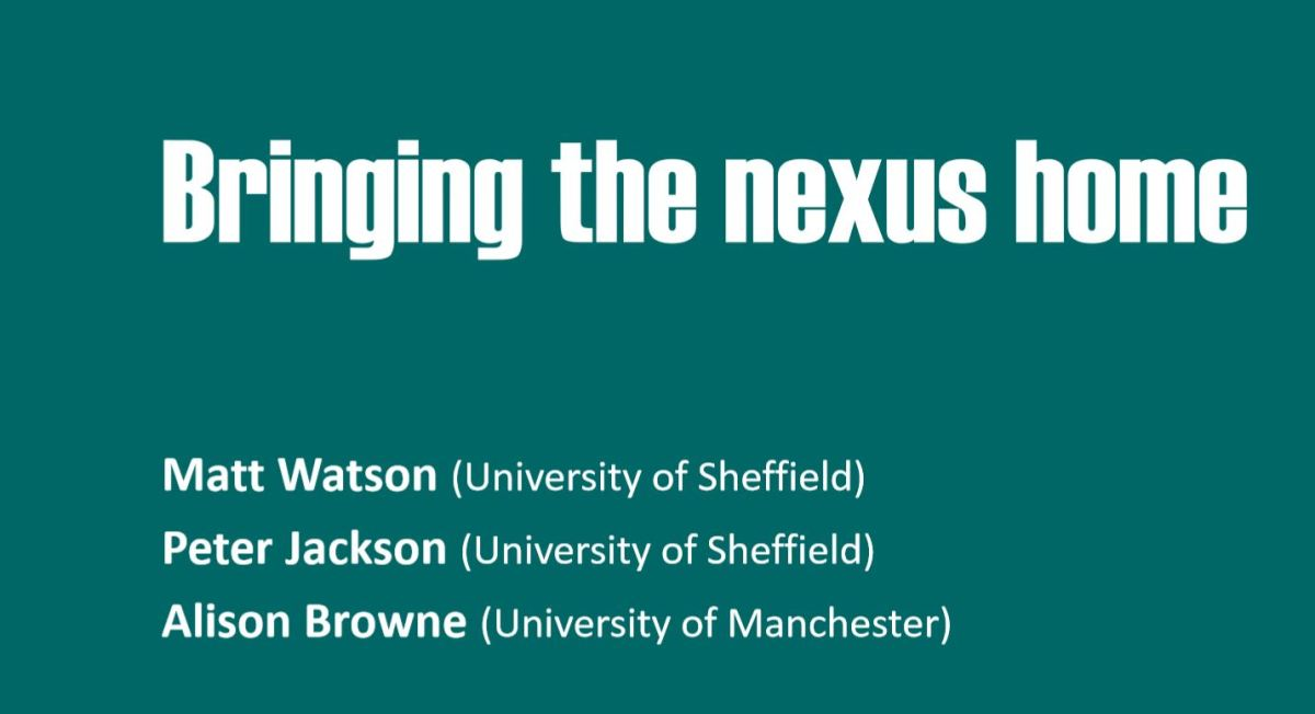 Bringing the nexus home at the Nexus Network AnnualConference